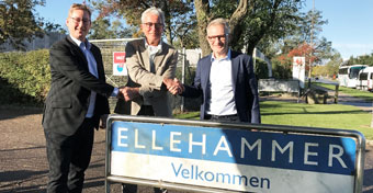 Ellehammer CEO, Torben Bang Kristensen, Ellehammer Foundation Chairman Lars Gudman Pedersen and IRON Pump CEO Anders Frimodt-Møller